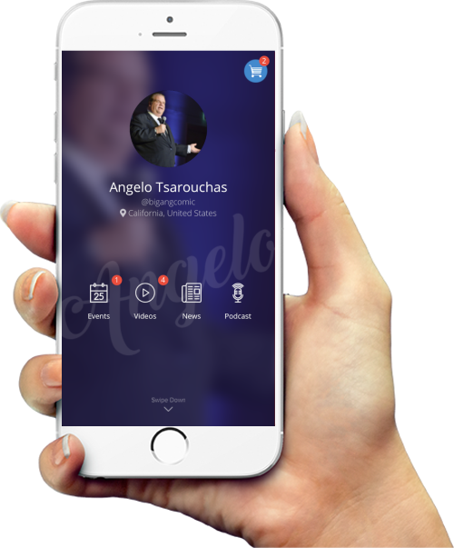LAUGHSTER - The simple to use comedian APP.